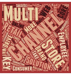 Multi channel retail keys to success text vector
