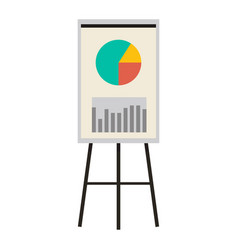 office presentation board with charts and diagram vector image vector image