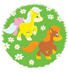 Ponies vector