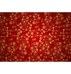 Red Christmas Background Texture vector image