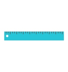 Ruler tool flat icon vector image vector image