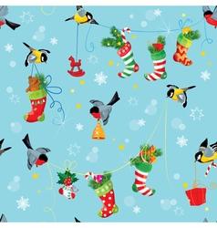 Stockings birds seamless 380 vector