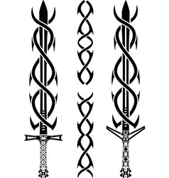 Tattoo swords vector