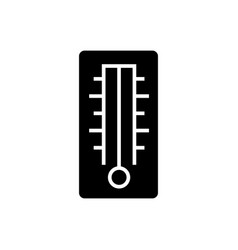 thermometer icon black sign vector image