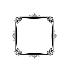 vintage calligraphic square frame decorative vector image vector image