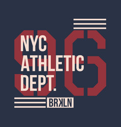 vintage label athletic sport typography for t vector image vector image