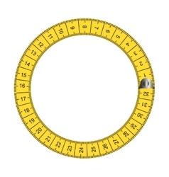 Tape measure ribbon icon vector