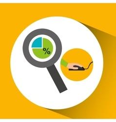 development app technology chart search vector image