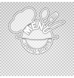 Food and drink menu isolated object vector