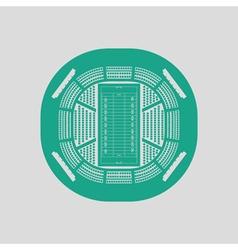 American football stadium birds-eye view icon vector