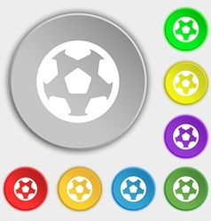 Football soccerball icon sign Symbol on eight flat vector image