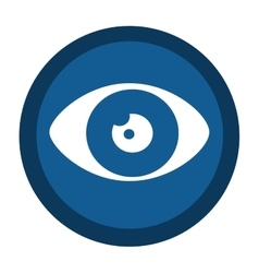 eye sign isolated icon vector image