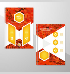 Abstract brochure or flyer design template vector