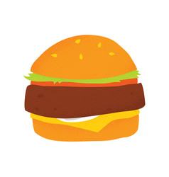 Vegan beans burger isolated vector