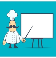 Chef in various poses vector
