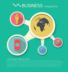 Business infographic design template vector