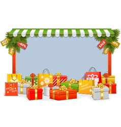 Christmas shopping board vector
