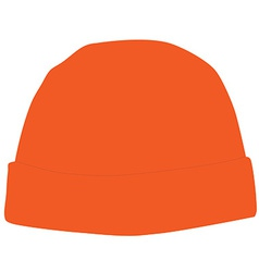 Orange winter hat vector