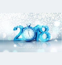 3d blue digits 2018 for the new year vector image