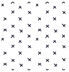 Hand drawn seamless indigo cross texture vector