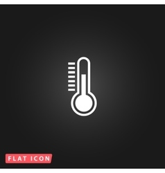 Thermometer flat icon vector