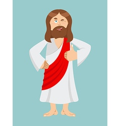 Jesus hands shows thumbs upl son of god signs all vector