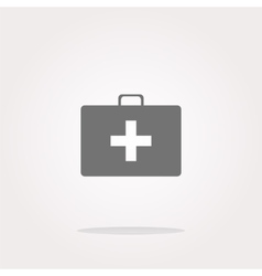 Doctor bag health medical icon isolated on vector