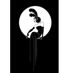 Art Deco Lady fashion design vector image