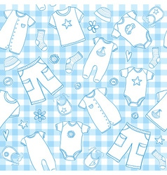 Baby boy seamless pattern vector