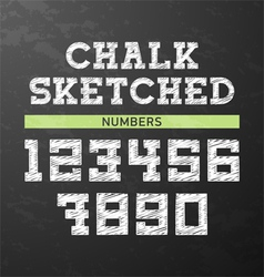 Chalk sketched numbers vector image vector image