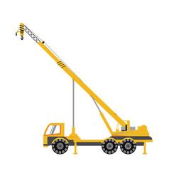 Construction heavy machinery icon image vector
