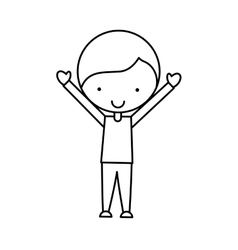 cute little man character vector image vector image