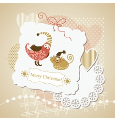cute scrap-booking elements vector image vector image