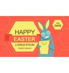 Easter bunny with shopping bag vector image vector image