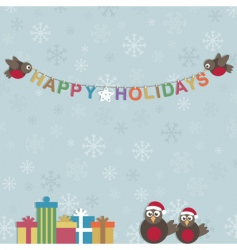happy holidays vector image vector image