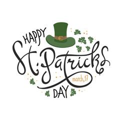 happy saint patricks day logotype celebration vector image