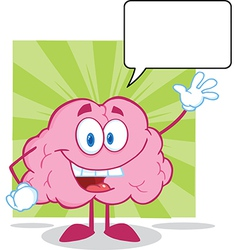 Healthy brain food cartoon vector image vector image