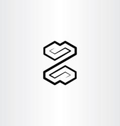 Letter z black logo symbol design sign vector