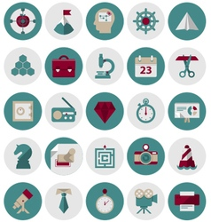 Management and Marketing Icons Set1 vector image vector image