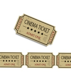 Old cinema tickets vector image
