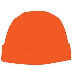 Orange winter hat vector