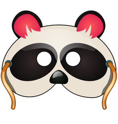 panda mask carnival and masquerade accessories vector image