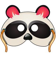 panda mask carnival and masquerade accessories vector image vector image