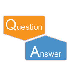 q and a icon on white background question and vector image