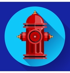Red fire hydrant icon for video mobile vector image