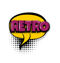 Retro comic text white background vector