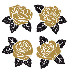 roses set 003 vector image