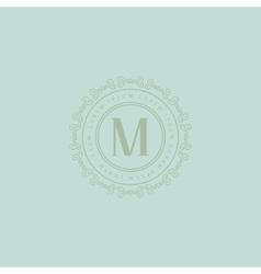 Round monogram design template vector