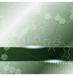 Science background with molecules vector