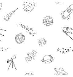 Seamless dooble space pattern set vector image